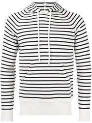 Marc Jacobs Striped Hooded Jumper White