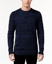 American Rag Men's Mix Stitch Sweater Only At Macy's Blue Multi