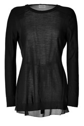 Philosophy Di Alberta Ferretti Wool Chiffon Top Black