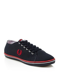Fred Perry Kingston Twill Sneakers Navy Red White