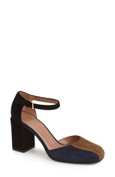 Marni Mary Jane Pump Women Navy Tan Suede