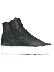 Oxs Rubber Soul Bicolour Sole Hi Top Sneakers Black