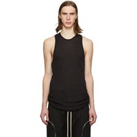 Rick Owens Black Anthem Rib Tank Top