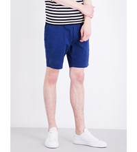Paul Smith Regular Fit Mid Rise Stretch Cotton Shorts Blue