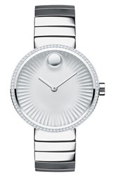 Movado Women's 'Edge' Diamond Bracelet Watch 34Mm