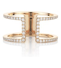 Noa Fine Jewellery Quadro 18Ct Rose Gold And Diamond Ring