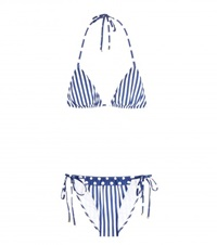 Dolce And Gabbana Printed Triangle Bikini Blue