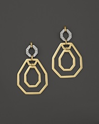 Kara Ross 18K Yellow Gold Cava Open Link Earrings With Diamonds Gold White