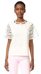 Giambattista Valli Short Sleeve Top White