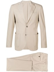 Eleventy Casual Two Piece Suit Neutrals