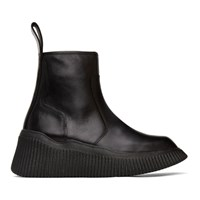 Julius Black Leather Zip Up Boots