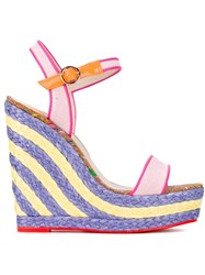 Sophia Webster Lucita Sand Wedge Sandals Pink And Purple