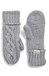Women's Rella 'Betto' Cable Knit Mittens Grey Heather Grey
