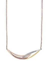Effy Trio Diamond 14K Yellow Gold And 14K Rose Gold Necklace Two Tone