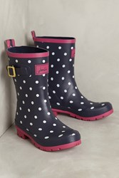 Anthropologie Joules Molly Printed Rain Boots Navy