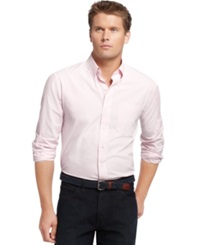 Izod Long Sleeve Checkered Essential Shirt Cradle Pink