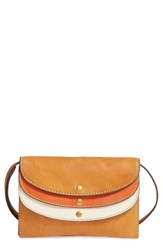 Frye Women's Adeline Leather Crossbody Wallet Brown Tan Multi