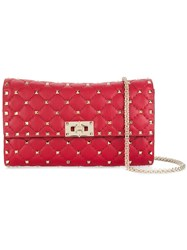 Valentino Rockstud Spike Shoulder Bag Red