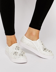 Asos Diamond Cool Plimsolls White