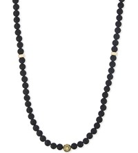 Nialaya Matte Onyx Beaded Necklace Blk Gold