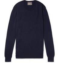 Private White V.C. Wool Sweater Navy