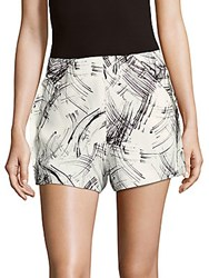 Style Stalker Dialogue Printed Shorts White