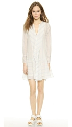 By Malene Birger Astree Striped Tunic Dress Pastel Blue