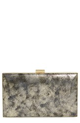 Sondra Roberts Metallic Frame Clutch Metallic Gold