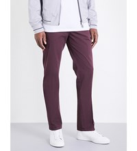 Armani Collezioni Regular Fit Stretch Cotton Chinos Burgundy