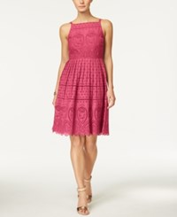 Charter Club Cotton Lace Halter Dress Only At Macy's Glamour Pink