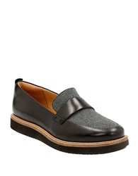Clarks Glick Avalee Leather Loafers Grey