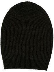 Rick Owens Medium Knit Beanie Black