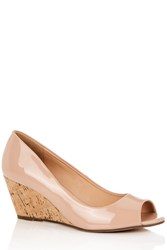 Oasis Jessica Peeptoe Wedge Neutral