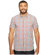 The North Face Short Sleeve Getaway Shirt Rage Red Plaid Men's Short Sleeve Button Up Multi
