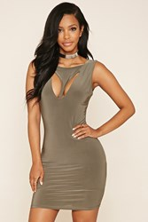 Forever 21 Geo Cutout Bodycon Dress