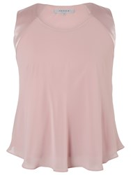 Chesca Satin Back Cami Top Powder Pink