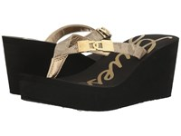 Guess Sahari Gold Women's Wedge Shoes
