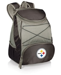 Picnic Time Pittsburgh Steelers Ptx Backpack Cooler Black