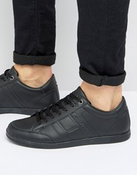 Tommy Hilfiger Denzel Leather Trainers Black