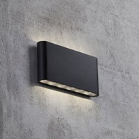 Amara Kinver Outdoor Wall Light Black