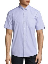 Zachary Prell Short Sleeve Button Down Shirt Light Purple