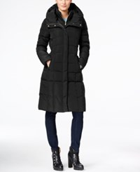 Cole Haan Hooded Long Down Puffer Coat With Vestee Black