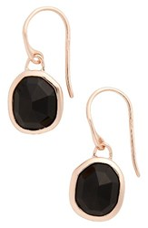 Monica Vinader Women's 'Siren' Semiprecious Stone Drop Earrings Blue Lace Agate Rose Gold