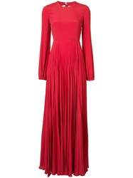 N 21 No21 Elasticated Cuffs Pleated Gown Women Silk Acetate 36 Red