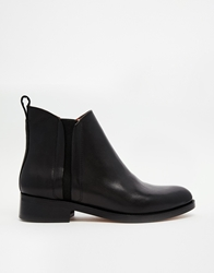 Whistles Bryton Black Flat Chelsea Boots