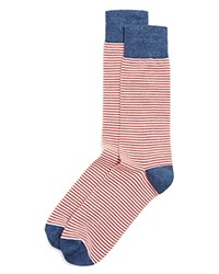 The Men's Store At Bloomingdale's Americana Thin Stripe Dress Socks Navy