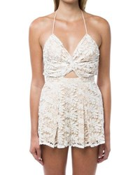 6 Shore Road Skinny Dippers Lace Romper Coverup White