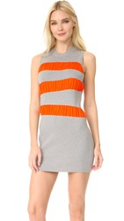 Maison Martin Margiela Ruffle Stripe Dress Grey Orange