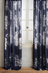 Anthropologie Bamboo Flicker Curtain Navy