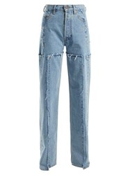 Vetements High Rise Straight Leg Jeans Light Denim